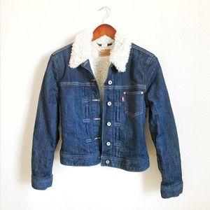 Levi's Strauss & Co. Denim Jean Sherpa Jacket Coat
